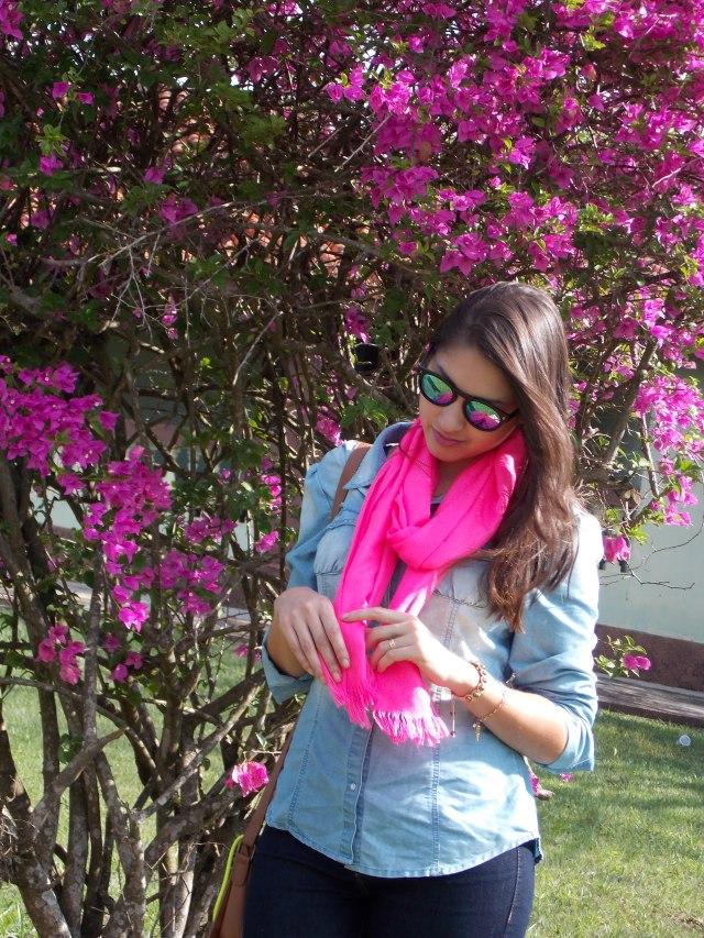 look lenço pink 2