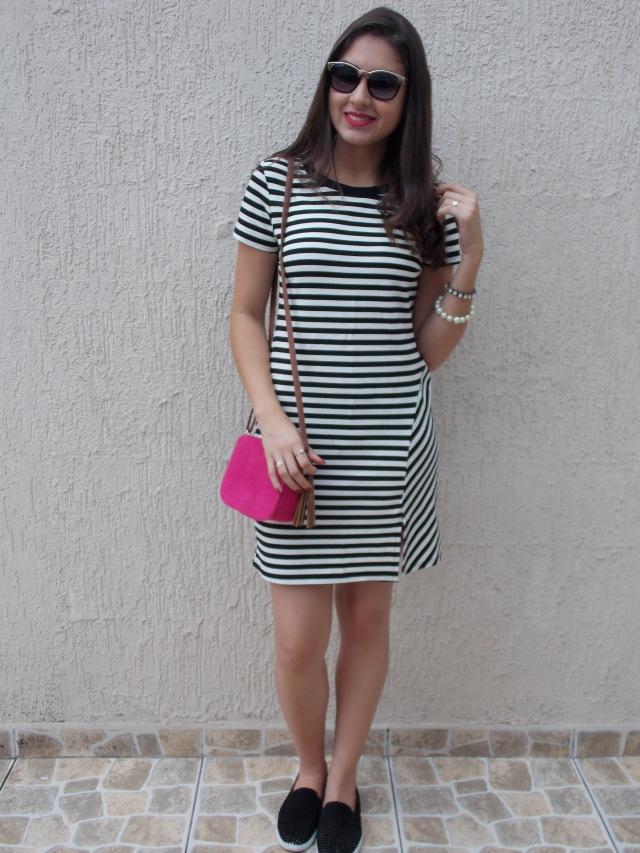 look listras vestido de listras