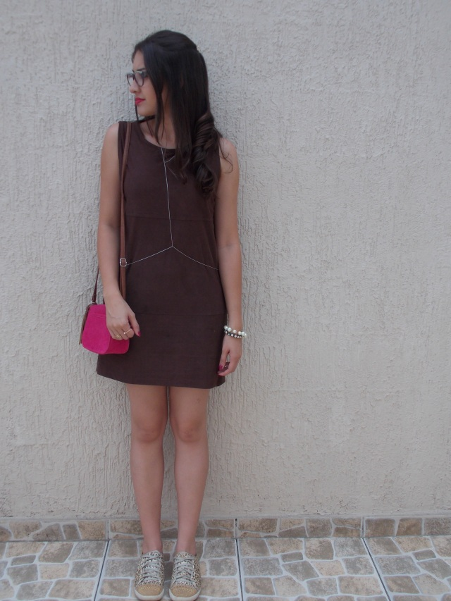 blog fernanda angelo vestido marrom