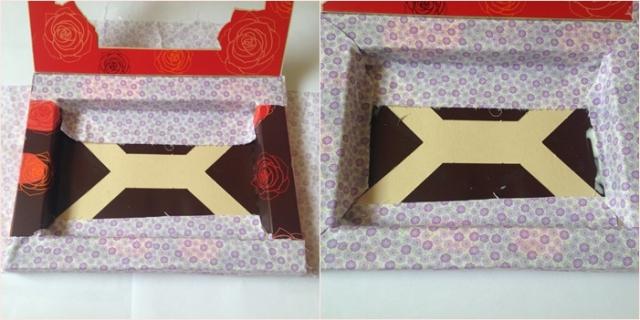 porta biju com caixa de chocolate